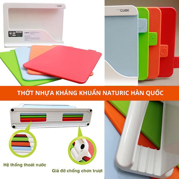Thớt nhựa màu, thớt nhựa an toàn, thớt nhựa kháng khuẩn naturnic hàn quốc - phugiatrading.com