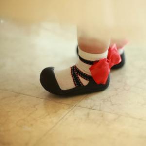 Giầy tập đi Attipas Ballet Đen AB03 - Sỉ giầy cho bé tập đi Hàn Quốc