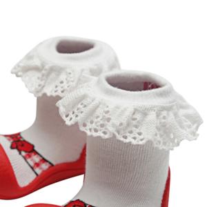 Giầy tập đi Attipas Ballet đỏ AB01 - Sỉ giầy cho bé tập đi Hàn Quốc