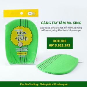 Găng tay tắm Hàn Quốc Mr King cao cấp - Phugiatrading chuyên phân phối hàng tiêu dùng nhập khẩu