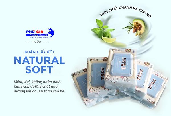 Khăn giấy ướt Natural Soft - khăn ướt hàn quốc giá sỉ