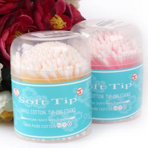 Tăm bông trẻ em Soft Tip Thái Lan hộp tròn 200 chiếc - Nguồn hàng bông tai Thái Lan tại Việt Nam - phugiatrading.com