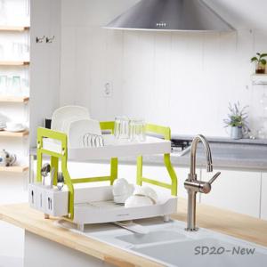 Giá úp bát đĩa cao cấp Hàn Quốc 2 tầng Naturnic - Giá úp bát 2 tầng
