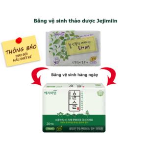 Thay đổi mẫu băng vệ sinh hàng ngày Jejimiin - Băng vệ sinh jejimiin giá sỉ - phugiatrading.com