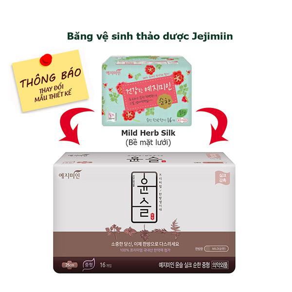 Băng Vệ Sinh Yejimiin Plus Silk Mild Hương Nhẹ 14 16 Miếng Mặt Lưới Phu Gia Trading