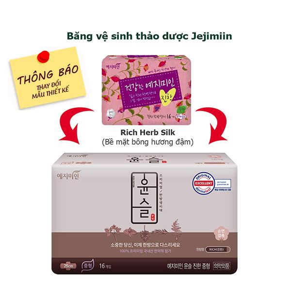 Băng Vệ Sinh Yejimiin Plus Cotton Rich Hương đậm 14 16 Miếng Phu Gia Trading