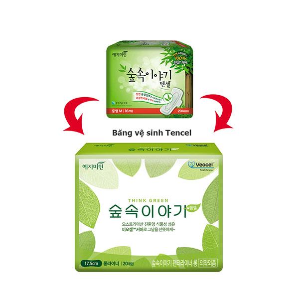 Thay đổi mẫu băng vệ sinh Yejimiin Tencel - Sỉ băng vệ sinh Jejimiin - phugiatrading.com
