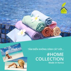 khăn đi biển, khăn tắm biển cao cấp không dính cát Home Collection Hàn Quốc
