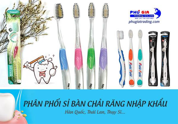 Phân phối sỉ bàn chải đánh răng - mối hàng siêu thị, nguồn hàng siêu thị - phugiatrading.com