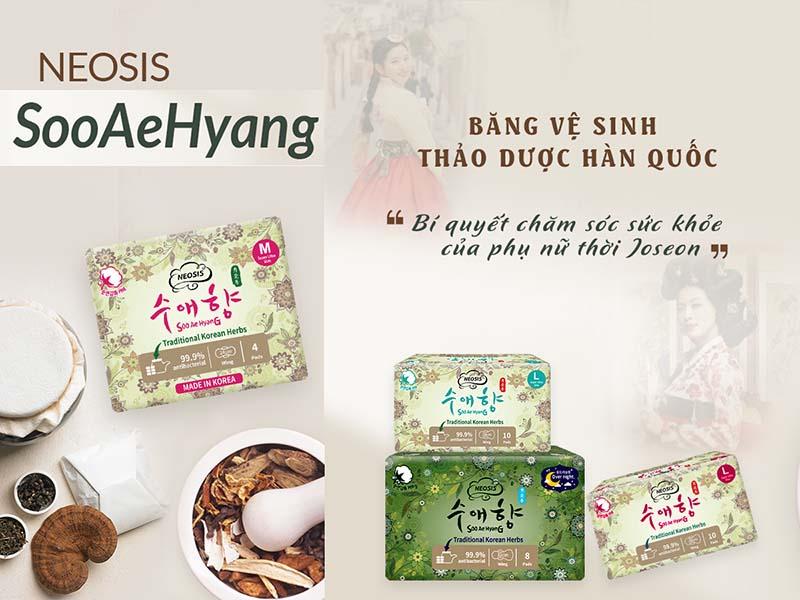 Băng vệ sinh thảo dược Neosis Soo Ae Hyang